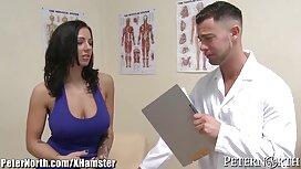 Latina Ella Knox nielee asiakkaan hieromaan häntä alasti hevosen selässä, porno fi